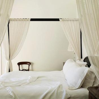 Iron Canopy Bed with Sheer Panels, Traditional, bedroom, Adelaide Bragg