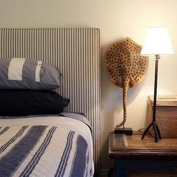 Striped Headboard, Eclectic, boy's room, Adelaide Bragg
