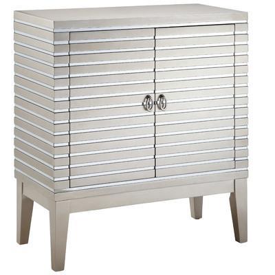 World Cosmopolitan Mirrored Strips 2 Door Cabinet - Wayfair