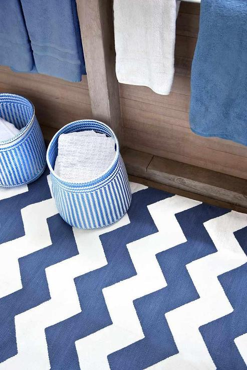 Chevron Denim White Indoor Outdoor Dash Amp Albert Rug Company