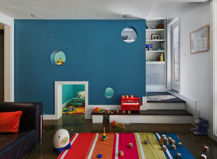 Benjamin moore buckland blue contemporary boy 39 s room - Cool things for room ...
