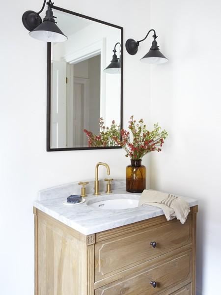 Weathered Oak Vanity Eclectic, Weathered Oak Bathroom Vanity Mirror