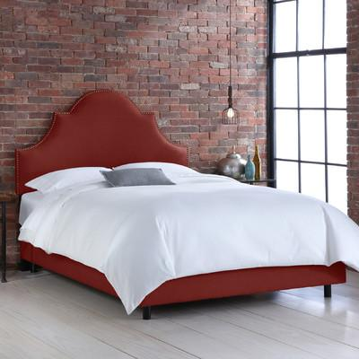 Demarlos Arched Top Panel White Bed