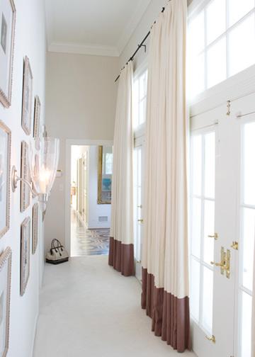 Floor length curtains design ideas for Foyer curtain ideas