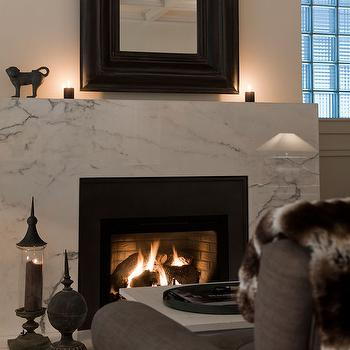 white marble fireplace - Fireplace Surround Design Ideas