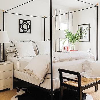 Black and White Bedroom, Contemporary Bedroom, New England Home