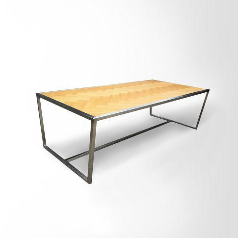 oak coffee table - west elm