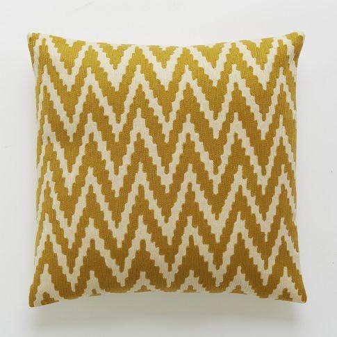 chevron crewel pillow cover golden gate west elm. Black Bedroom Furniture Sets. Home Design Ideas
