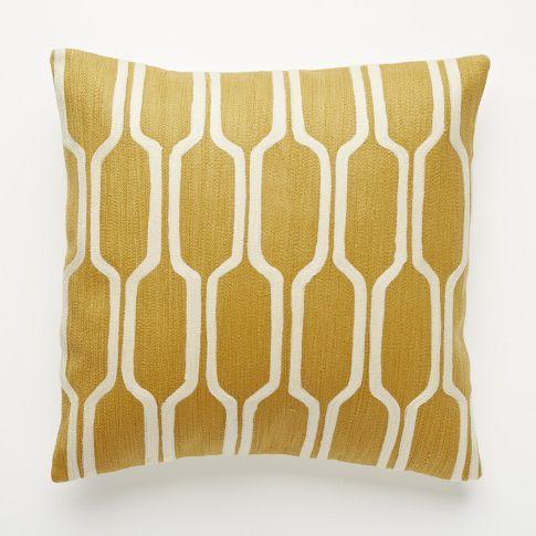 honeycomb crewel pillow cover golden gate west elm. Black Bedroom Furniture Sets. Home Design Ideas