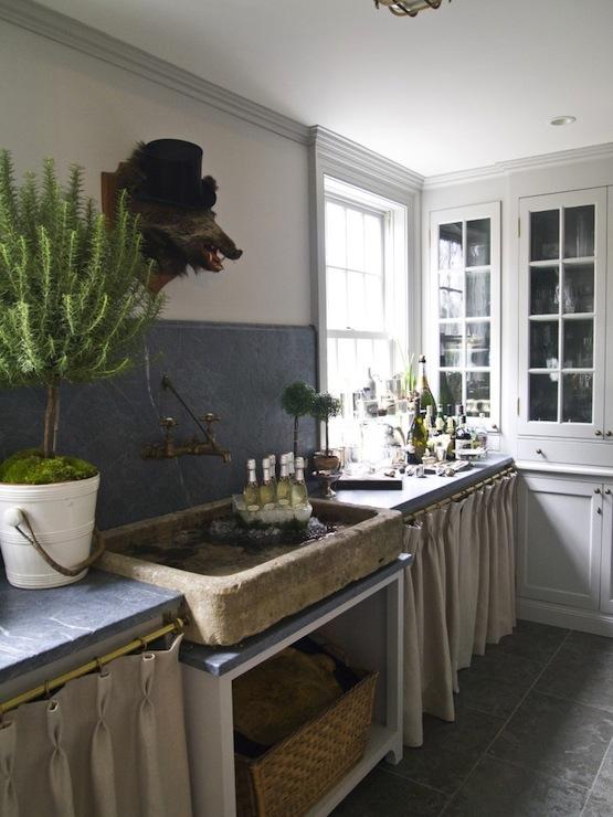 rustic stone sink cottage kitchen house beautiful rh decorpad com Rock Kitchen Sink Rustic Stone Windows