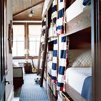 Boys Bunk Room, Cottage, boy's room, Traditional Home