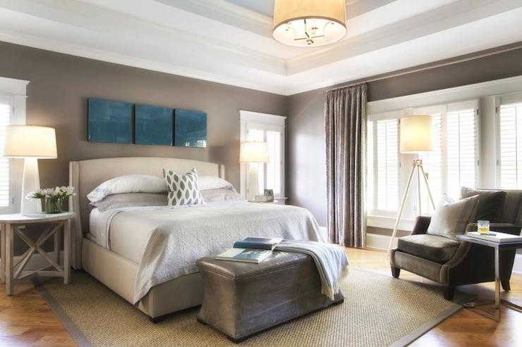 Tray ceiling bedroom transitional bedroom tri traci Master bedroom ceiling colors