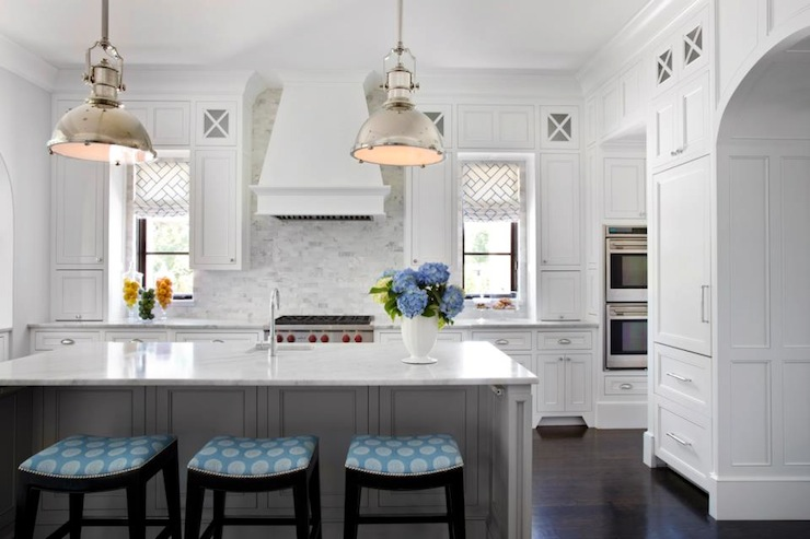 Light Gray Kitchen Island  Contemporary  kitchen  TRI Traci Rhoads