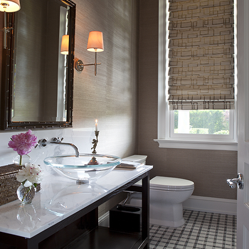 Sherwin Williams Grasscloth Wallpaper Asian Bathroom