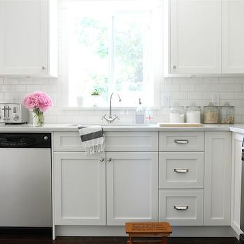 White Shaker Cabinets, Transitional, kitchen, Benjamin Moore Cloud White, Our House