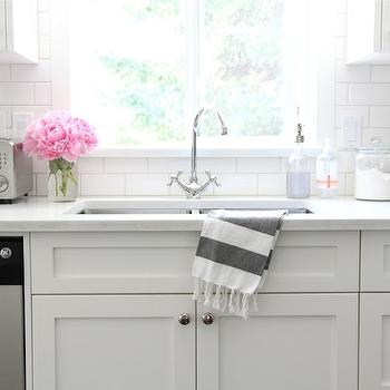 Hammam Striped Hand Towel, Transitional, kitchen, Benjamin Moore Cloud White, Our House