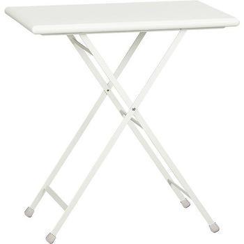 Pronto Small White Folding Bistro Table, Crate and Barrel