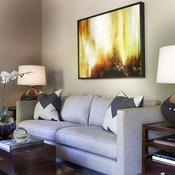 Gray Gourd Lamp, Contemporary, living room, TRI Traci Rhoads Interiors