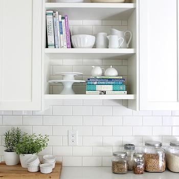 Floating Kitchen Shelves - Transitional - kitchen - Benjamin ...