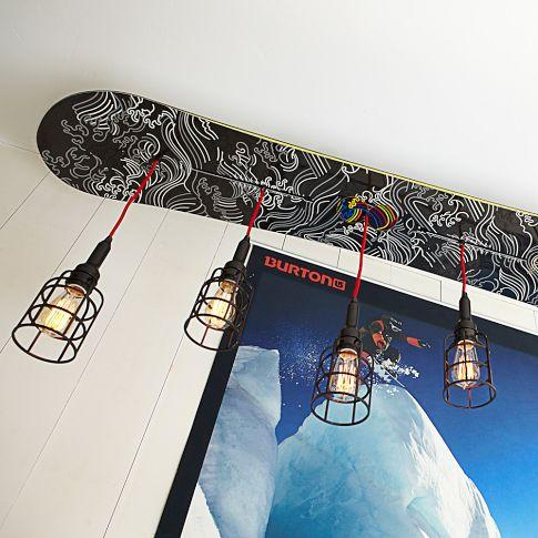 Burton snowboard pendant pbteen for Snowboard decor