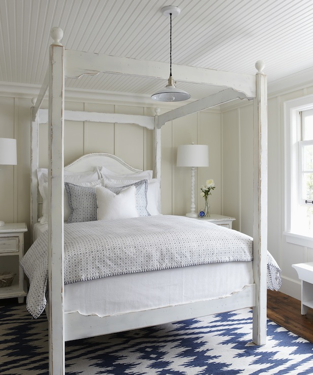 White Canopy Bed - Cottage - bedroom - Muskoka Living