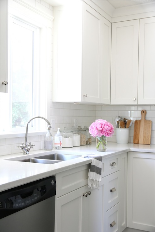 All White Kitchen Transitional Kitchen Benjamin