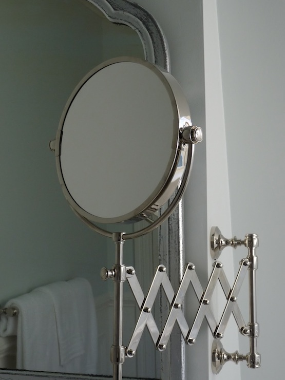 Gorgeous Bathroom Features Restoration Hardware Lugarno Extension Mirror Next So Silver Leaf