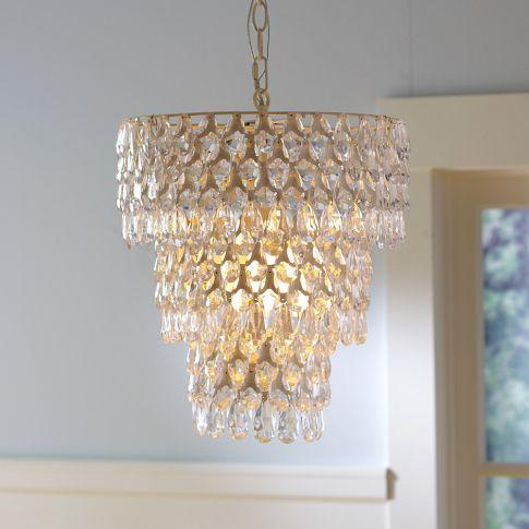 Crystal teardrop chandelier for Chandelier light for girls room