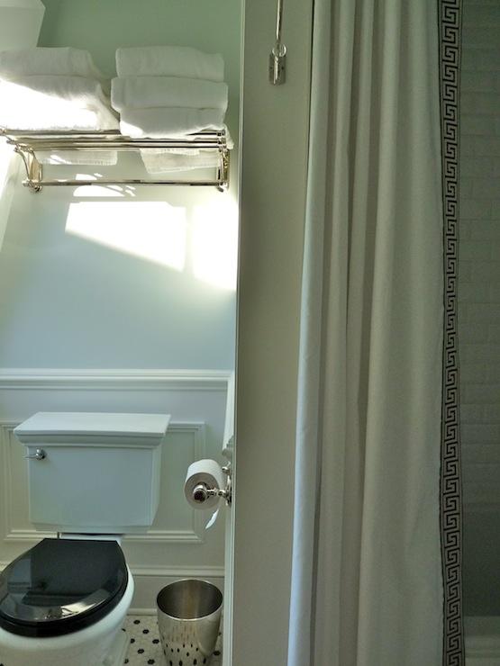 Greek Key Shower Curtain Traditional Bathroom Behr