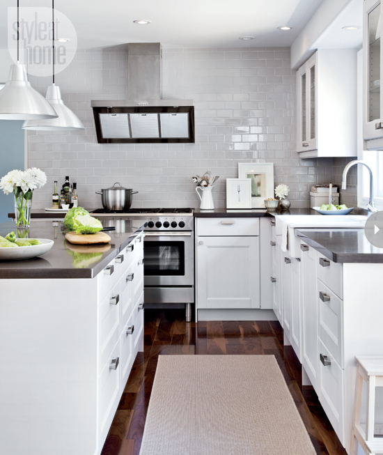 White Kitchen Cabinets With Gray Countertops: Style At Home