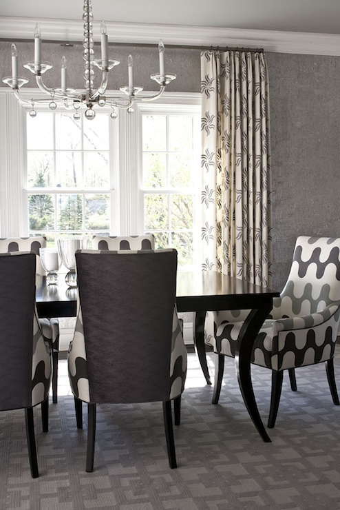 Martin lawrence bullard fabric contemporary dining room muse interiors - Grey fabric dining room chairs designs ...