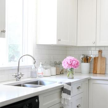 All White Kitchen, Transitional, kitchen, Benjamin Moore Cloud White, Our House