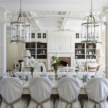 Whitewashed Farmhouse Dining Table, Cottage, dining room, Muskoka Living