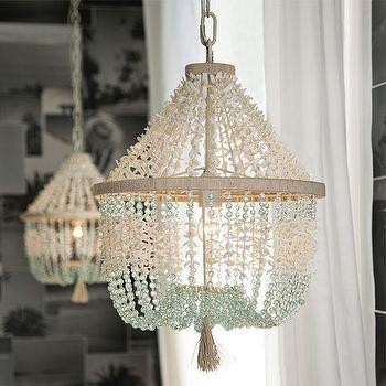 Rowan Iron Beaded Chandelier Pottery Barn
