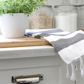 Restoration Hardware Duluth Pulls, Transitional, kitchen, Benjamin Moore Cloud White, Our House