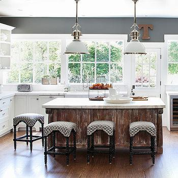 Industrial Barstools - Transitional - kitchen