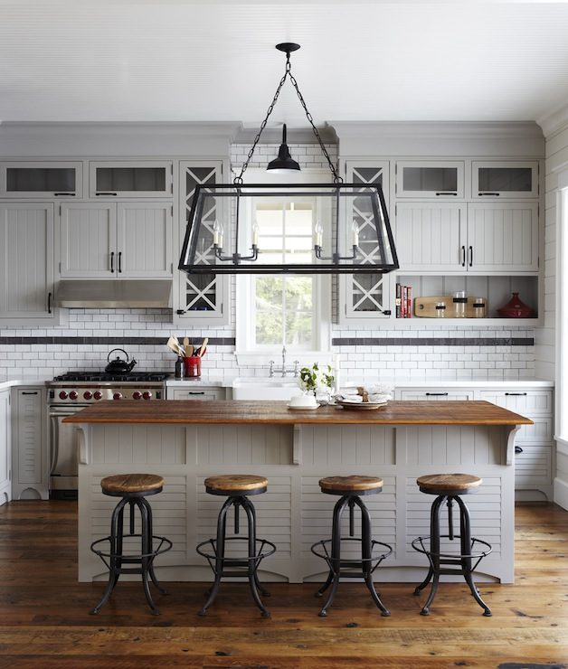 Industrial Bar Stools Cottage Kitchen Muskoka Living