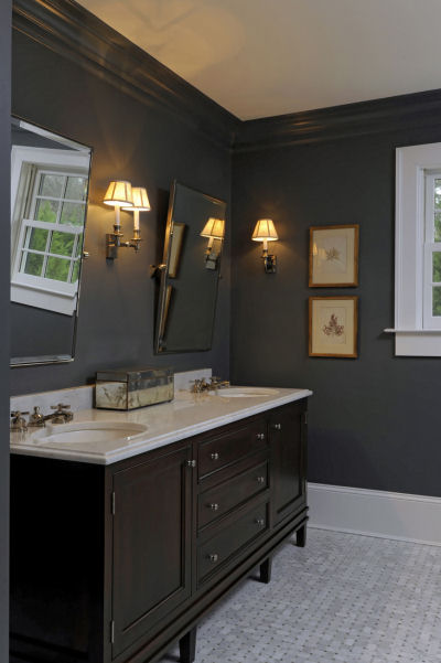 Gray Crown Moldings Design Ideas