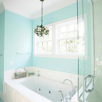 Tiffany Blue Paint Colors, Contemporary, bathroom, Sherwin Williams Spa, Echelon Custom Homes