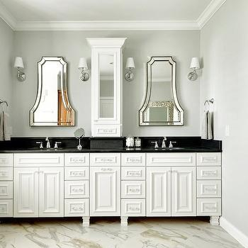 Bathroom Vanity With Center Tower Design Ideas