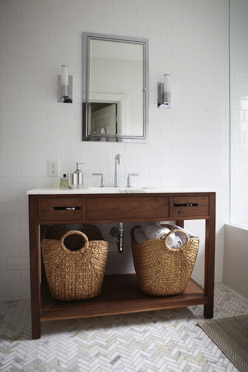 Restoration Hardware Washstand Cottage Bathroom Bhg