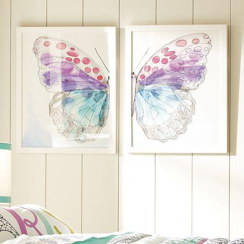 Framed Split ButterFly Wall Art - PBteen