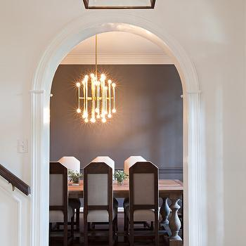 Arched Door Moldings, Transitional, dining room, Sally Wheat Interiors