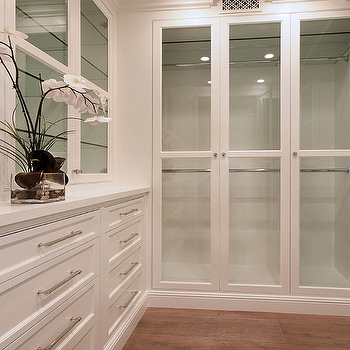 Glass Front Cabinets, Transitional, closet, Brandon Architects