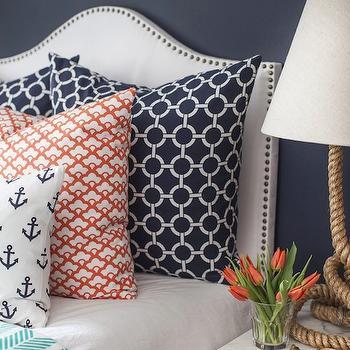 Studded White Headboard, Contemporary, bedroom, Caitlin Wilson Design