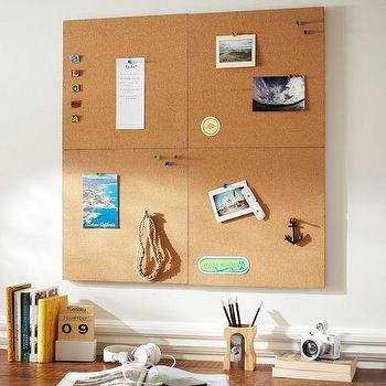 2x2 Corkboard Style Tile 2.0 Set, PBteen
