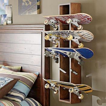 Skateboard Shelf black and tan skateboard shelf