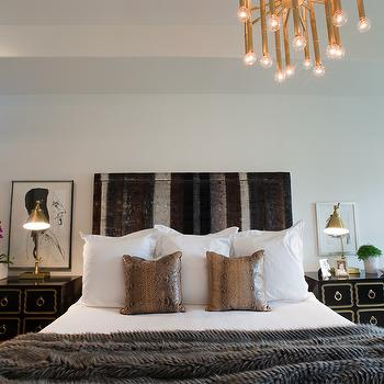 Faux Python Pillows, Contemporary, bedroom, Sally Wheat Interiors