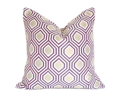Geometric Purple And Gold