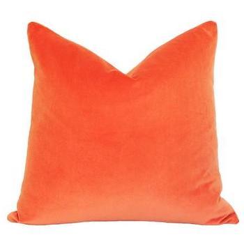 Orange Velvet Pillow I Ariannabelle.com